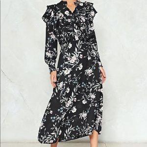 Nasty Gal Take It or Leaf It Midi Dress